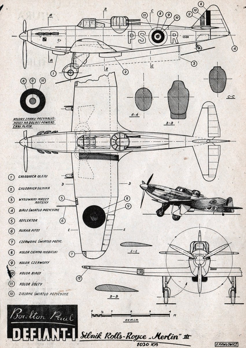 Campaign For The Turreted Oddity P82 Boulton Paul Defiant Light Switches Wiring Diagram Free Download Http Samolotypolskiepl Uploads Products Product 554 Mk I Rys