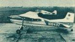 """Samolot sanitarny Cessna 185 """"Skywagon"""" (N1649Z) używany w polskim lotnictwie sanitarnym. (Źródło: Skrzydlata Polska nr 1/1965)."""