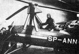 Ppłk Bolesław Stachoń w kabinie wiatrakowca Cierva C-30A SP-ANN.  (Źródło: archiwum).