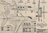"Dassault-Breguet ""Falcon 10"". Plany modelarskie (Źródło: Modelarz nr 1/1987)."