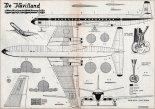 "De Havilland DH-106 ""Comet 4B"", plany modelarskie. (Źródło: Modelarz nr 11/1960)."