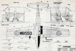 "De Havilland Canada DHC-1 ""Chipmunk"", plany modelarskie. (Źródło: Modelarz nr 4/1968)."