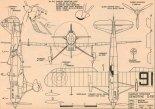 Dewoitine D-510. Plany modelarskie (Źródło: Modelarz nr 11/1981).