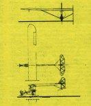 """Samolot Dobrociński """"Amator Experimental"""". Rysunek w trzech rzutach. (Źródło: Skrzydlata Polska nr 9/1975)."""