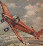 """Druine D-31 """"Turbulent"""" w locie. (Źródło: Skrzydlata Polska nr 17/1957)."""