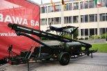 """Samolotowy Imitator Środka Napadu Powietrznego MJ-7 """"Szogun"""" umieszczony na katapulcie startowej. Źródło: Copyright Tomasz Hens)."""