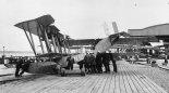 Latająca łódź patrolowa FBA typ B w służbie Royal Naval Air Service (RNAS). (Źródło: archiwum).